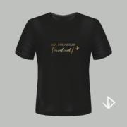T-shirt zwart opdruk goud Ach doe niet zo Vervelend | Vinesdutch en BeU Marketing & PR