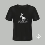 T-shirt zwart opdruk zilver I'm so Donkey | Vinesdutch en BeU Marketing & PR