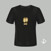 T-shirt zwart opdruk goud #ME | Vinesdutch en BeU Marketing & PR