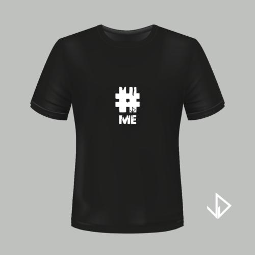 T-shirt zwart opdruk wit #ME | Vinesdutch en BeU Marketing & PR