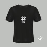 T-shirt zwart opdruk zilver #ME | Vinesdutch en BeU Marketing & PR