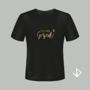 T-shirt zwart opdruk goud Wat een Gezeik! | Vinesdutch en BeU Marketing & PR
