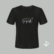 T-shirt zwart opdruk zilver Wat een Gezeik! | Vinesdutch en BeU Marketing & PR