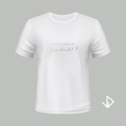 T-shirt wit opdruk zilver Ach, doe niet zo Vervelend! | Vinesdutch en BeU Marketing & PR