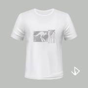 T-shirt wit opdruk zilver Australia   Vinesdutch en BeU Marketing & PR