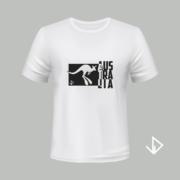 T-shirt wit opdruk zwart Australia   Vinesdutch en BeU Marketing & PR