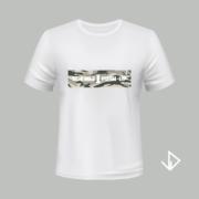 T-shirt wit opdruk legerprint Doe mij 1 push-up | Vinesdutch en BeU Marketing & PR