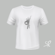 T-shirt wit Flash with fly opdruk zwart - Duna Fokwimi - BeU