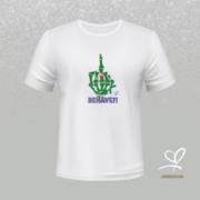 T-shirt wit Fuck Behave - Duna Fokwimi - BeU
