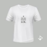 T-shirt wit opdruk zwart Hihi LOL   Vinesdutch en BeU Marketing & PR