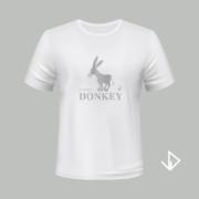 T-shirt wit opdruk zilver I'm so Donkey | Vinesdutch en BeU Marketing & PR