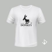 T-shirt wit opdruk zwart I'm so Donkey | Vinesdutch en BeU Marketing & PR