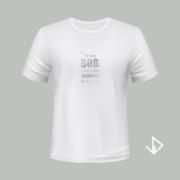 T-shirt wit opdruk zilver Ik ben Bob maar ik ben compleet de weg kwijt | Vinesdutch en BeU Marketing & PR