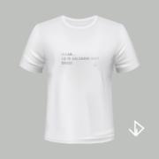 T-shirt wit opdruk zilver Maar.... ze is gelukkig niet dood! | Vinesdutch en BeU Marketing & PR