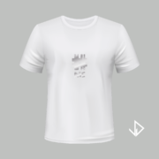 T-shirt wit opdruk zilver #ME | Vinesdutch en BeU Marketing & PR