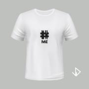 T-shirt wit opdruk zwart #ME | Vinesdutch en BeU Marketing & PR