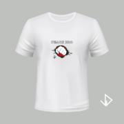 T-shirt wit opdruk Peace Bro | Vinesdutch en BeU Marketing & PR