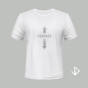 T-shirt wit opdruk zilver Perfect | Vinesdutch en BeU Marketing & PR