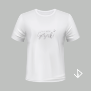 T-shirt wit opdruk zilver Wat een gezeik | Vinesdutch en BeU Marketing & PR