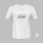 T-shirt wit opdruk zwart Wat een gezeik | Vinesdutch en BeU Marketing & PR