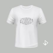 T-shirt wit opdruk zilver Zuipen Kreng | Vinesdutch en BeU Marketing & PR