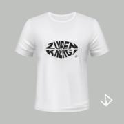 T-shirt wit opdruk zwart Zuipen Kreng | Vinesdutch en BeU Marketing & PR