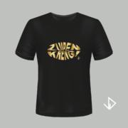 T-shirt zwart opdruk goud Zuipen Kreng | Vinesdutch en BeU Marketing & PR