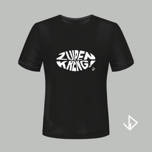 T-shirt zwart opdruk wit Zuipen Kreng | Vinesdutch en BeU Marketing & PR