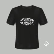 T-shirt zwart opdruk zilver Zuipen Kreng | Vinesdutch en BeU Marketing & PR