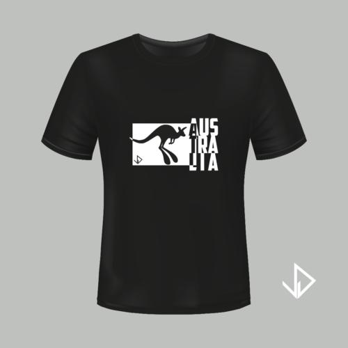 T-shirt zwart opdruk wit Australia | Vinesdutch en BeU Marketing & PR