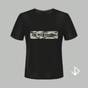 T-shirt zwart opdruk legerprint Doe mij 1 push-up | Vinesdutch en BeU Marketing & PR
