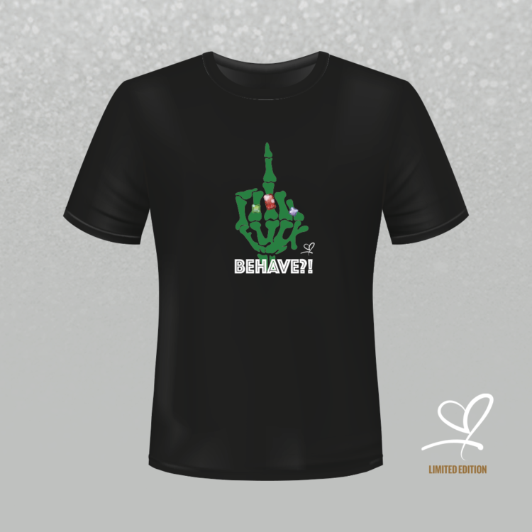 T-shirt zwart Fuck Behave - Duna Fokwimi - BeU
