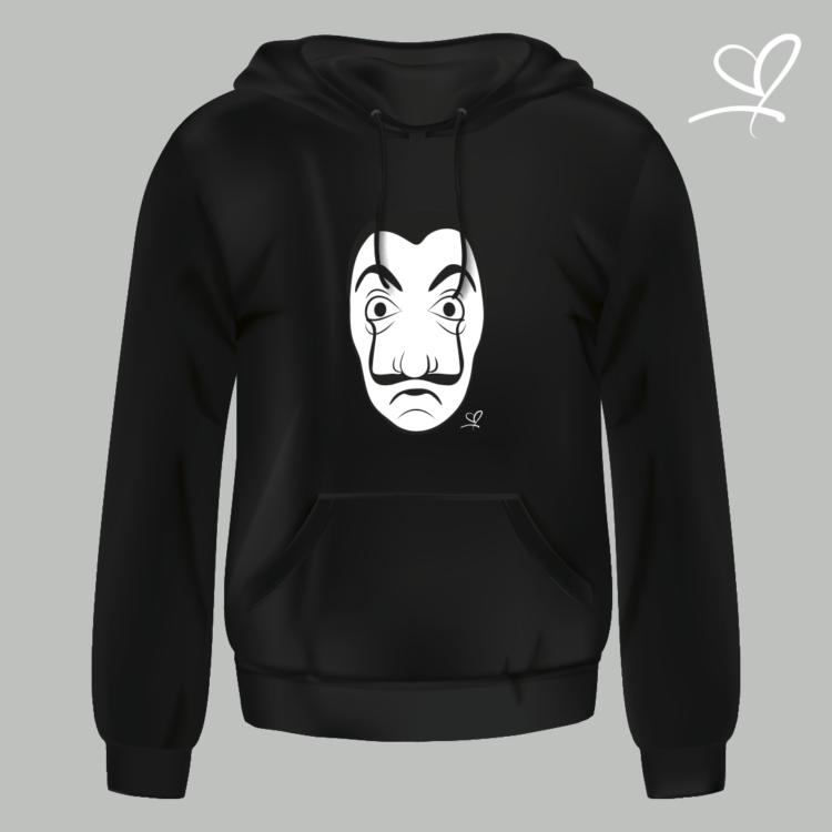 hoodie zwart la casa de papel