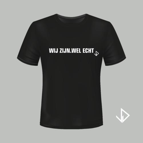 Shirt zwart - wij zijn wel echt - Vinesdutch